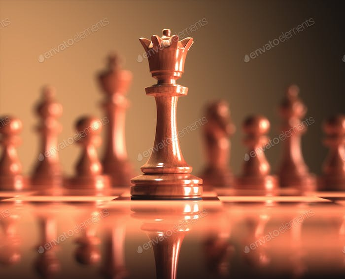 Queen Chess Game Board
