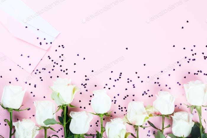 Blütenzusammensetzung. Weihnachtsgeschenk Valentin Day