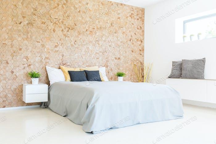 Modern minimalist eco-friendly bedroom