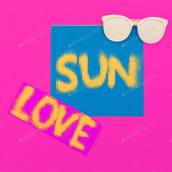 I love sun. Minimal art fashion style