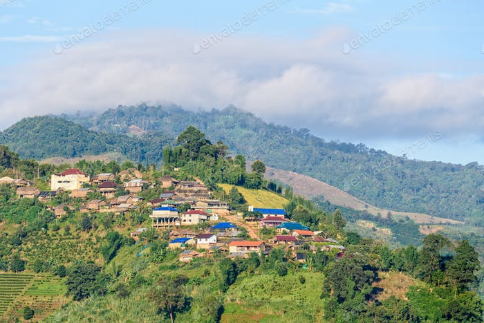 Small village on on the mountain