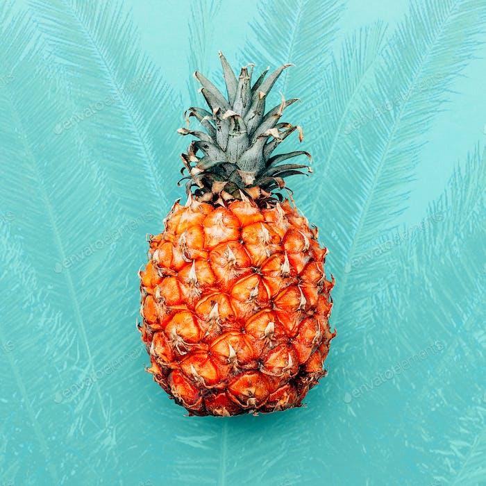 Tropical pineapple. Minimal design art
