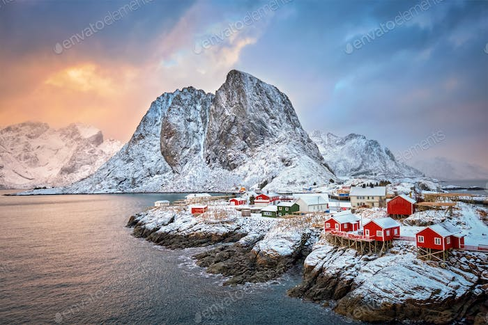 Thumbnail for Hamnoy fishing village on Lofoten Islands, Norway