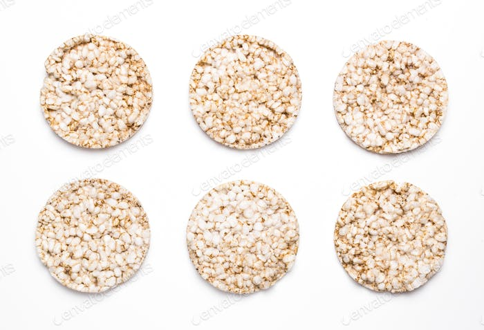Six rice and spelled cakes