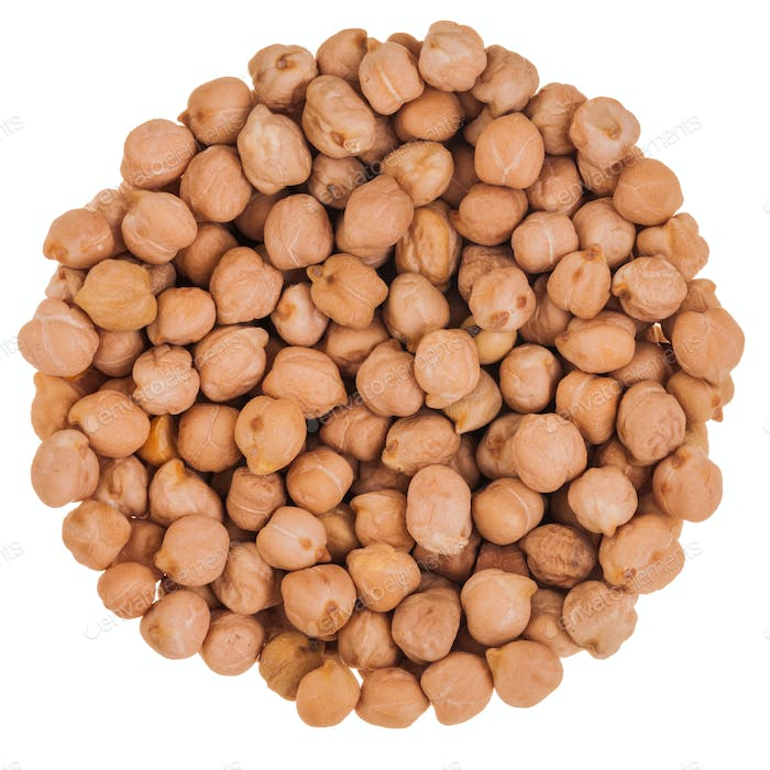 Beige Chickpeas Perfect Circle