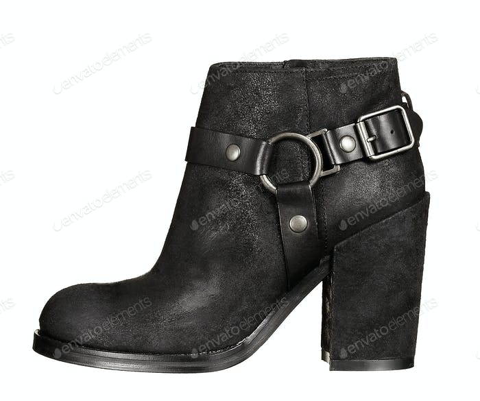 Beatles black leather high heel shoe