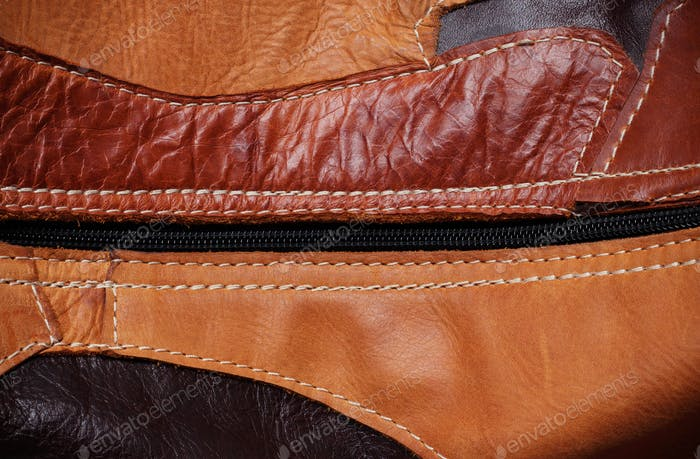 surface of leather with the background