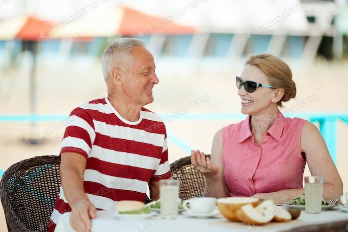 Pensioners at resort