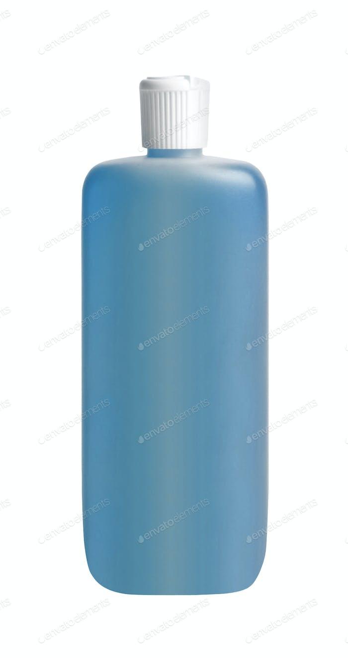 Shampoo bottle isolated on white