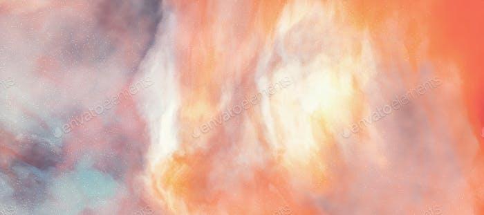 Nebula galaxy abstract background