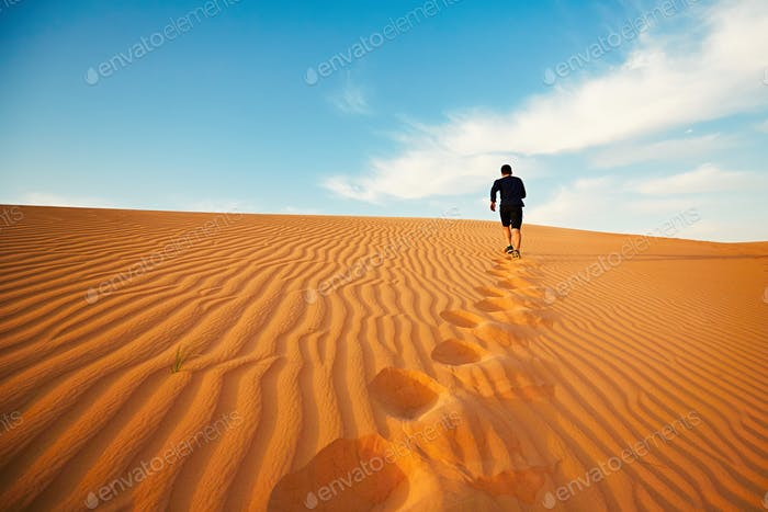 Lonely in desert