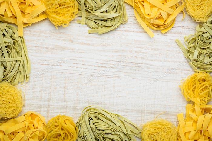 Tagliatelle Pasta Copy Space Frame