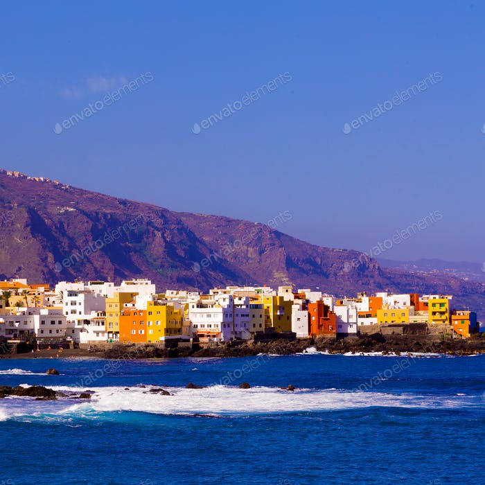 Tenerife Coast. Canary Islands.Travel style.