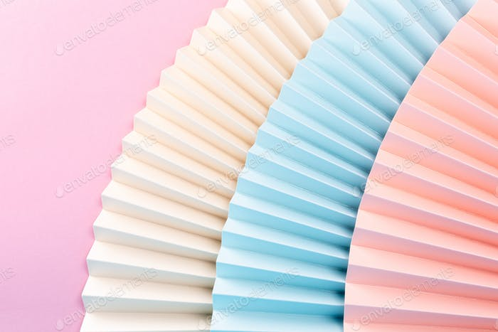 Colorful abstract background with paper fans