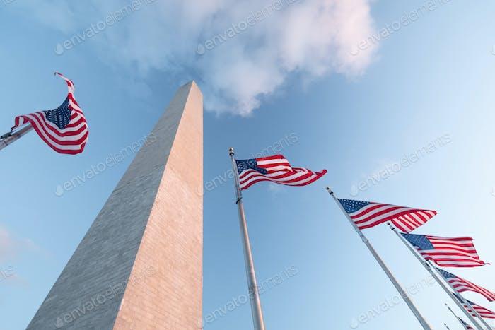 Washington-Denkmal in Washington DC, Vereinigte Staaten von Amerika, USA