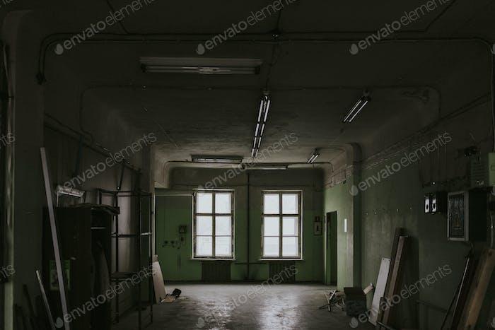 Abandoned grunge interior