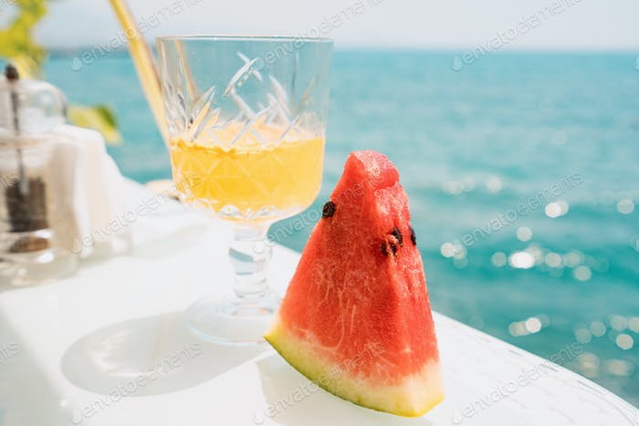 Enjoy a summer day with watermelon