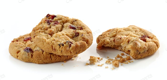 Cookie pieces and crumbs