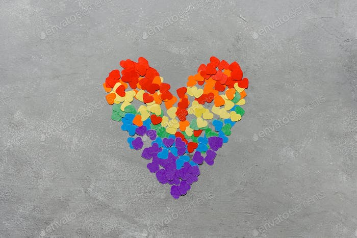 Rainbow LGBT colored heart