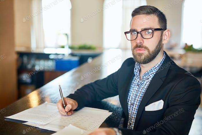 Preparing financial report