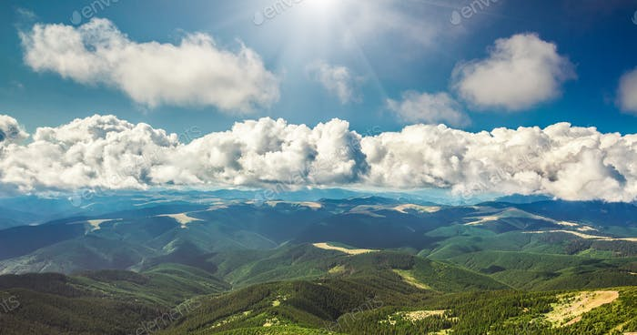 Mountain range  in summer
