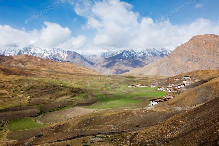 Langza village in Himalayas