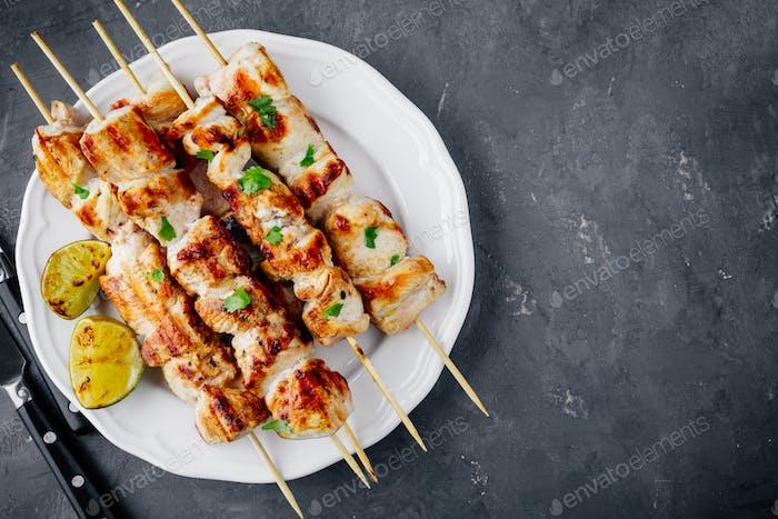 Grilled Cilantro Chicken Skewers