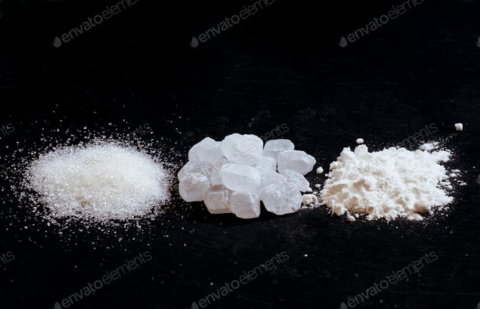 Sugar, candy sugar, white sugar powder