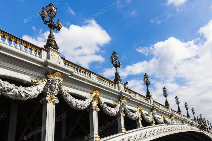 "Brücke Alexander III in Paris ""Pont Alexandre III"" - Frankreich"