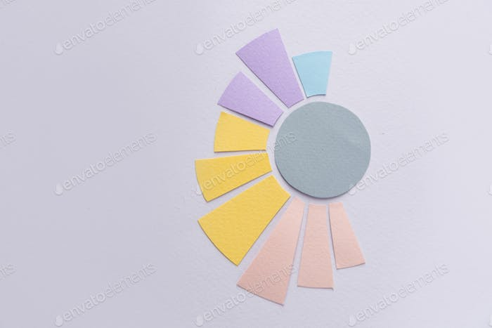 Business graphics isolated over grey table background.