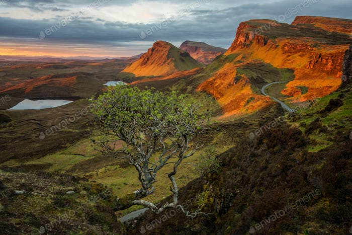Sunrise in the Scottish Highlands of the Quiraing
