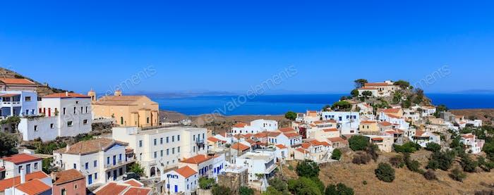 Griechenland, Kea Insel. Ioulis Dorf