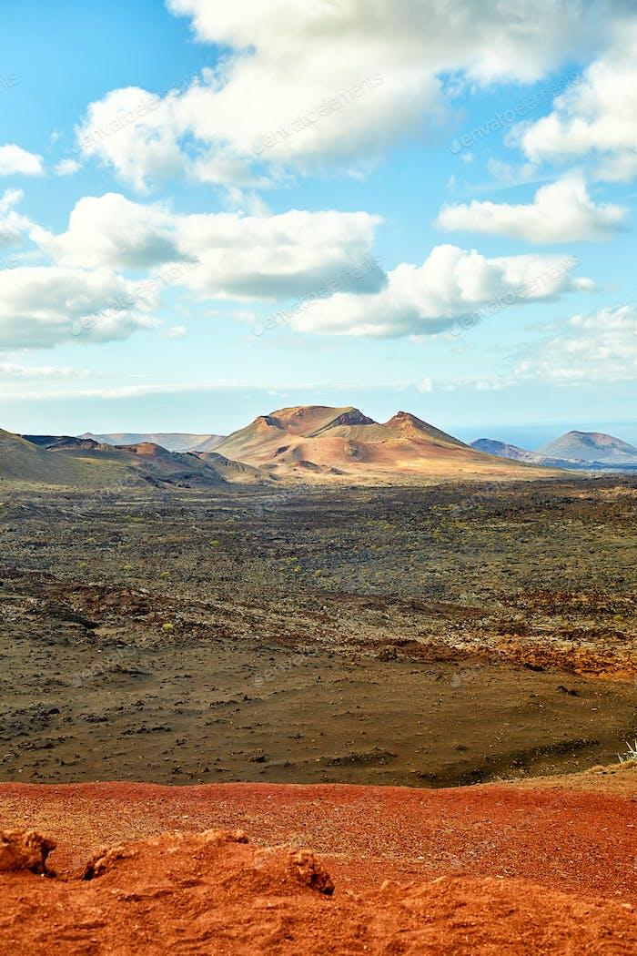Vulkan der Insel Lanzarote, Spanien