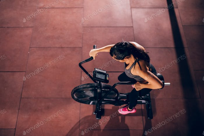 Exercising in the gym
