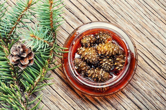 Jam from pine cones