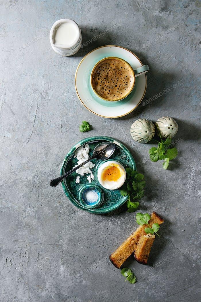 Weiches gekochtes Ei