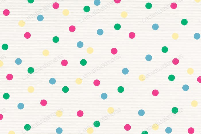 Colorful polka dot patterned background design resource