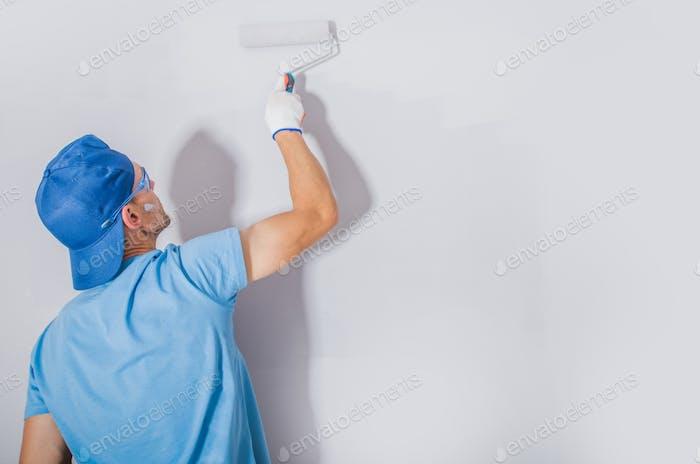 Men Painting His Apartment