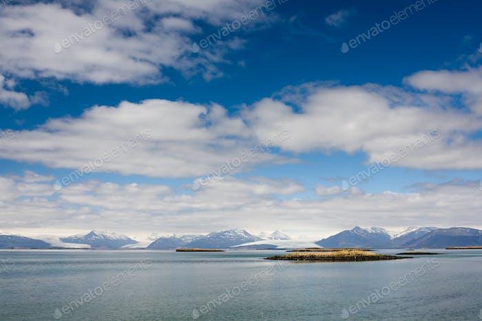Küste mit Gletschern, Island