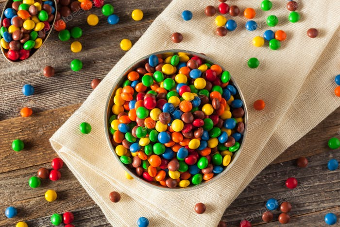 Rainbow Colorful Candy Coated Chocolate