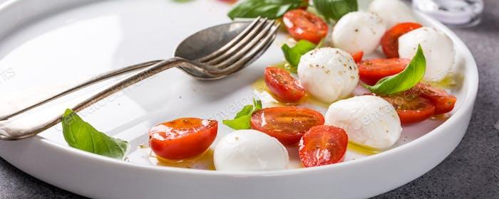 Delicious caprese salad
