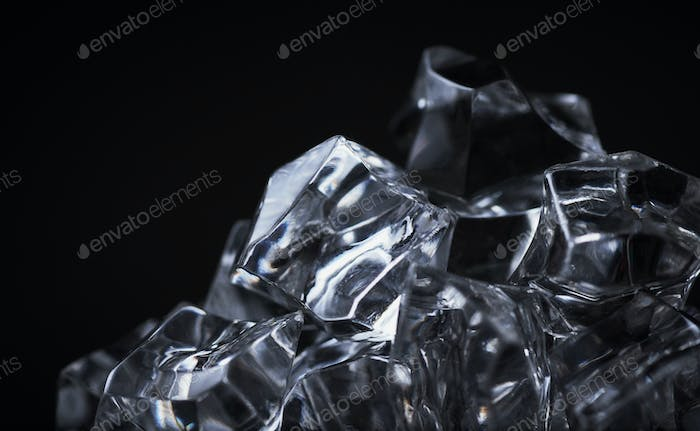 Close-up view of the crystal cubes