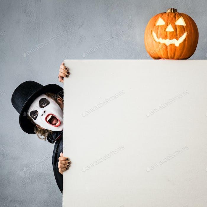 Halloween Kürbis Herbst Urlaub Konzept