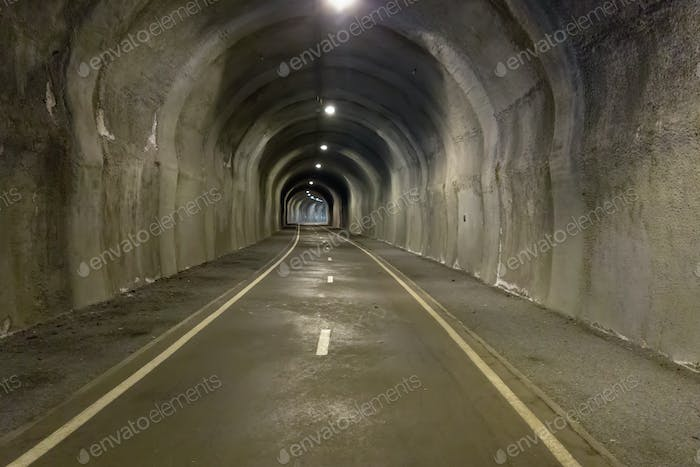 In the tunnel - underground road