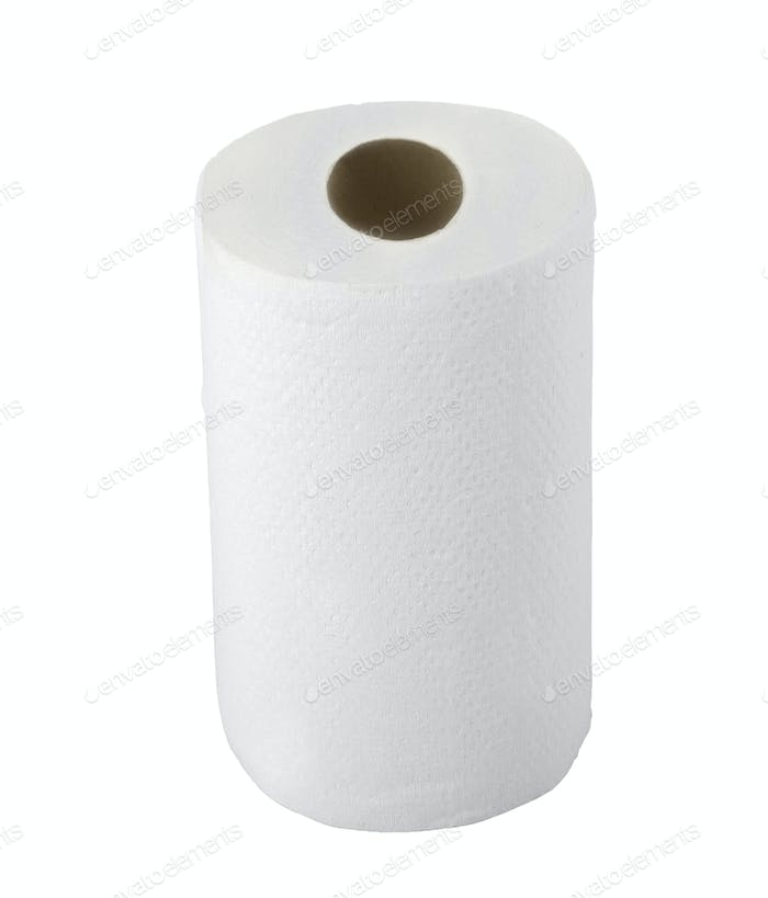 paper towel isolated on white background