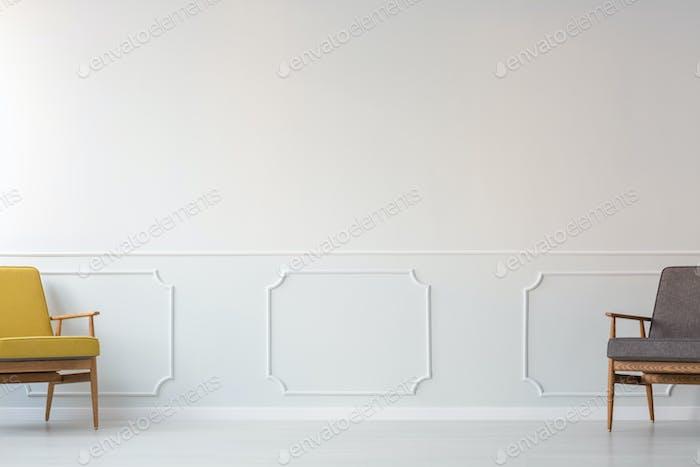 Leere Wohnzimmer-Innenraum