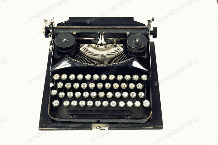 Close up of  vintage retro styled typewriter.