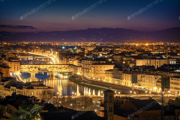 Florenz Dämmerung Stadtbild