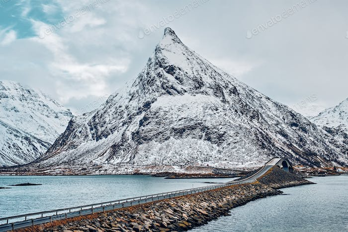 Fredvang Bridges. Lofoten islands, Norway