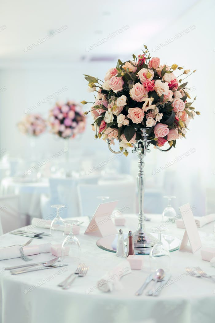 Beautiful decoration on wedding table
